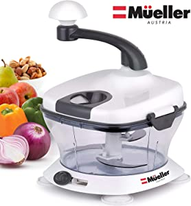 Mueller Ultra Heavy Duty Chopper/Mincer Vegetable, Nuts, Herbs with Built-In Egg White Separator