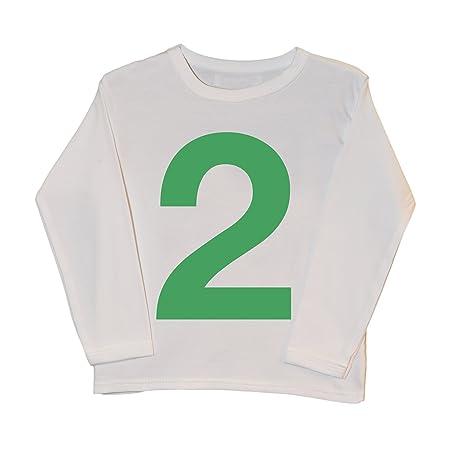 I Am 2 verde 2 nd cumpleaños T Shirt | Cool bebé camisetas ...