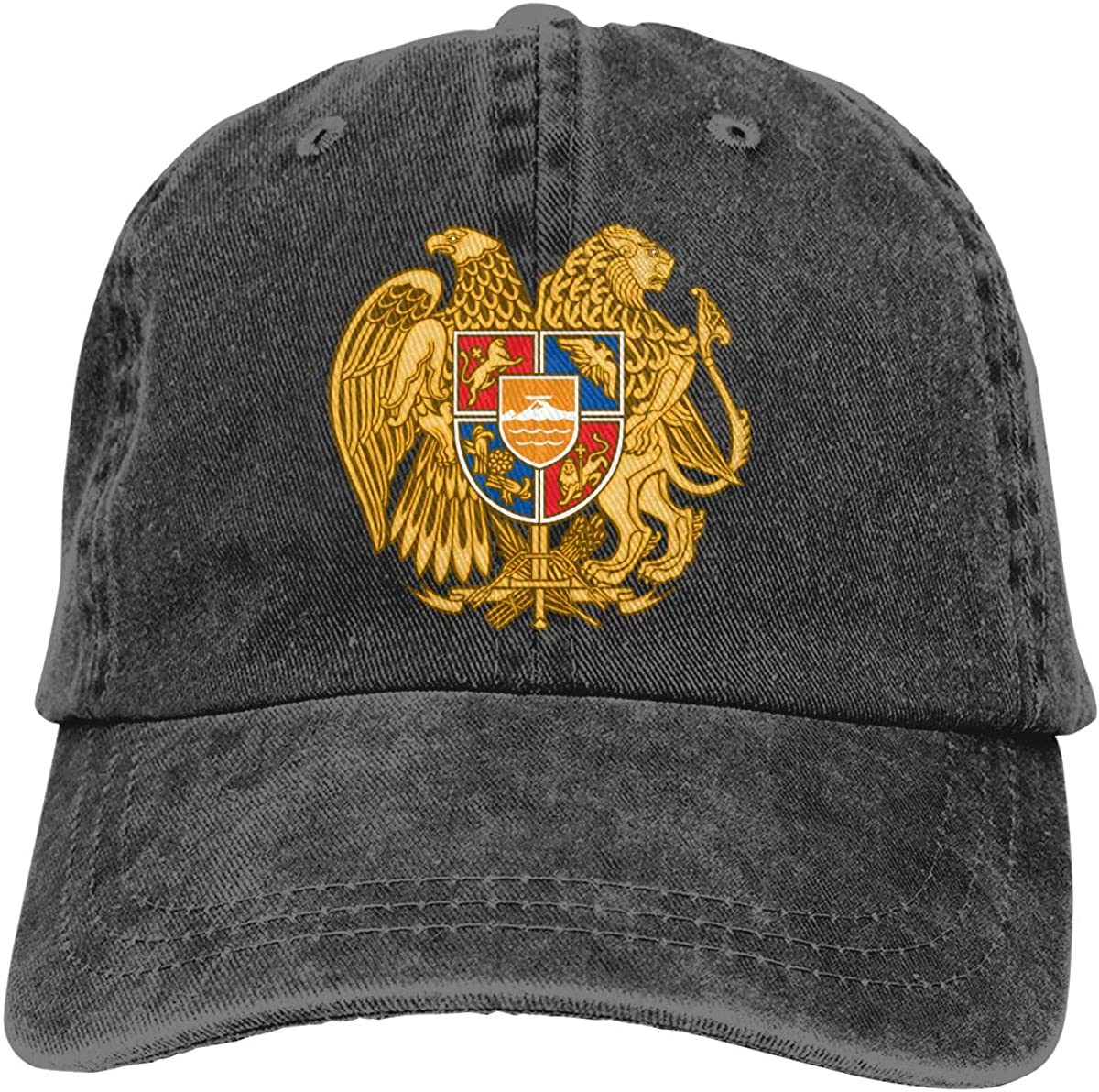 Unisex Coat of Arms of Armenia Vintage Washed Dad Hat Funny Adjustable Baseball Cap