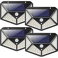 Luz Solar Exterior 100 LED, [2200mAh Ahorro de Energía Super] iPosible 270 °Iluminación de Cuatro Lados Foco Solar con…