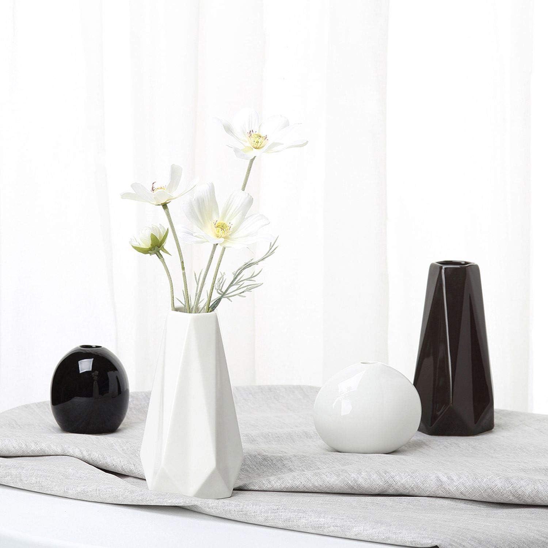 Creative Vases Ceramic White Tabletop Vase European Style Home Decoration Black Vase Fashion Flowerpot Modern Decor Best Gifts Black Home Kitchen