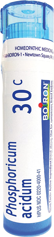 Boiron Phosphoricum Acidum 30C, 80 Pellets, Homeopathic Medicine for Concentration