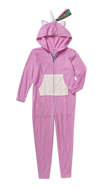 Girls Gyrl Co -Hooded Union Suit Purple Unicorn 1 pc Pajama Set