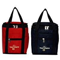 Right Choice Polyester Silk Multicolour Lunch Bag Combo for Men and Women (Multicolour)