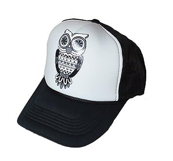 COOL nueva búho Logo trasero de malla gorra de