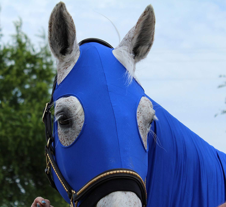Turtleneck Lycra Mane Tamer & Shoulder Guard (Royal Blue, Medium)