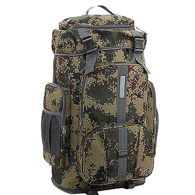Sac à Dos De Randonnée De Camouflage Extérieur Sac à Dos De Camping De Randonnée Grande Capacité 56-75L Sac à Dos Tactique