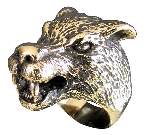 Anillo de hombre lobo cabeza de lobo espíritu Animal en ...