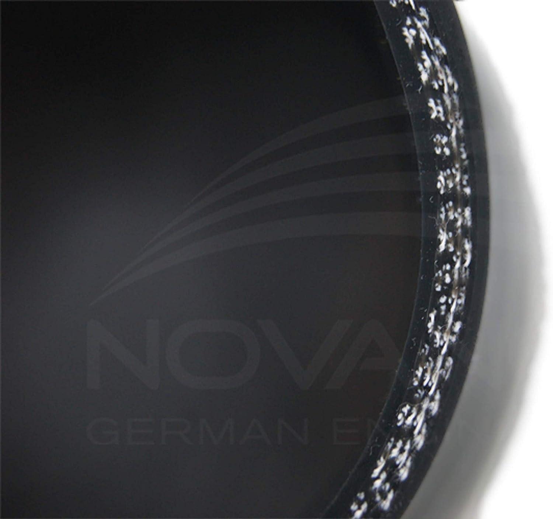/Ø 50 flessibile Tubo di riduzione in silicone nero 60 mm