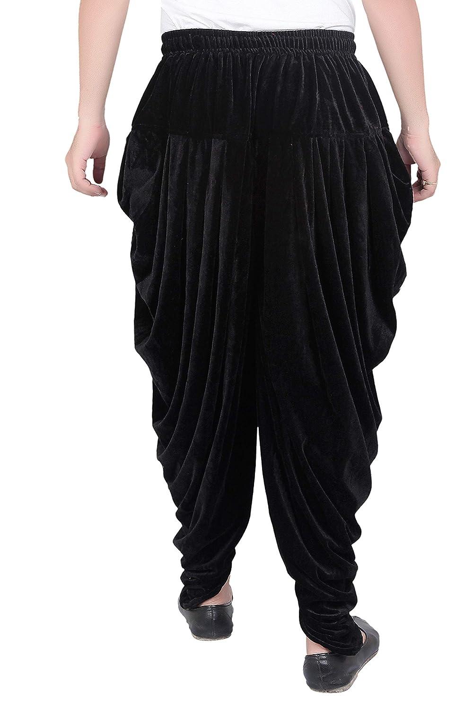 Patiala-Pants-Salwar-fuer-Maenner-Samt-elastischer-Bund-handgefertigt-laessig-Wear Indexbild 6