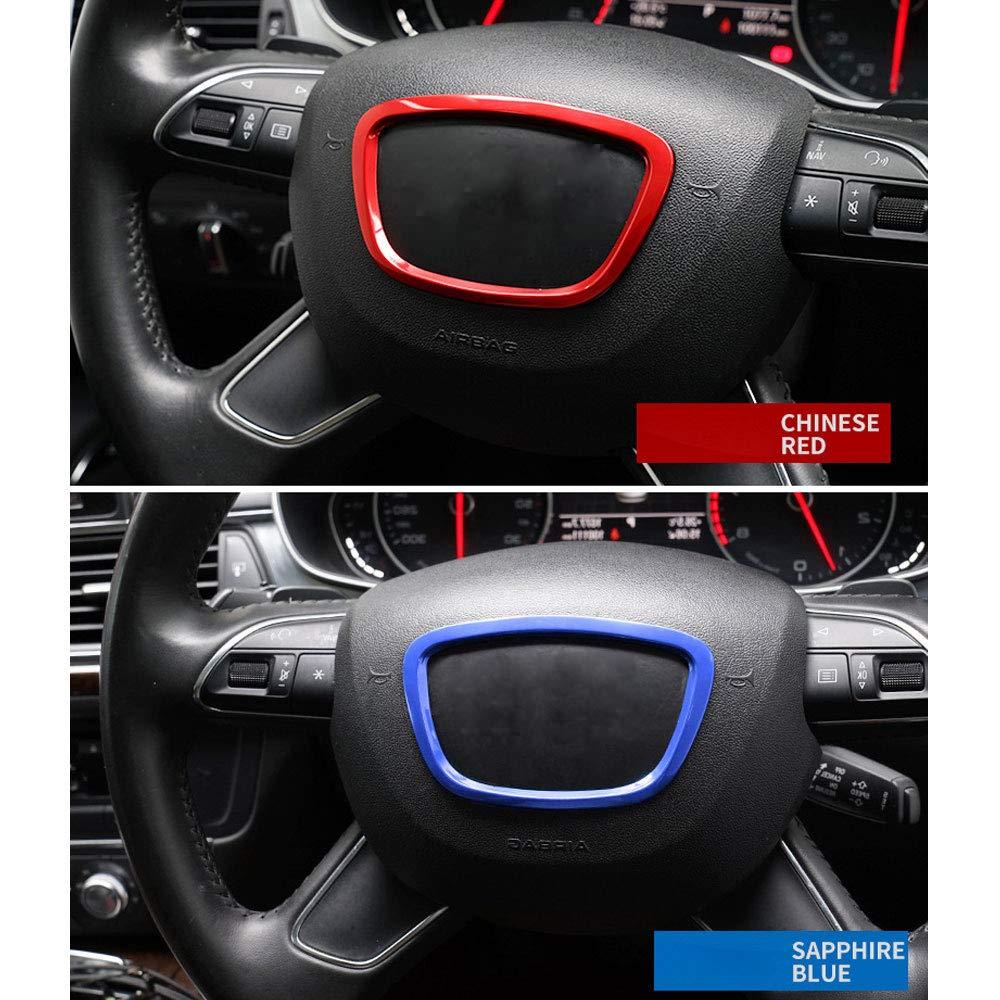 DINBGUCHI 1 St/ücke Auto Aluminiumlegierung Lenkrad Rahmenabdeckung F/ür Audi A3 4L 6L Q3 Q5 Innendekoration Aufkleber Zubeh/ör-Multi Farben