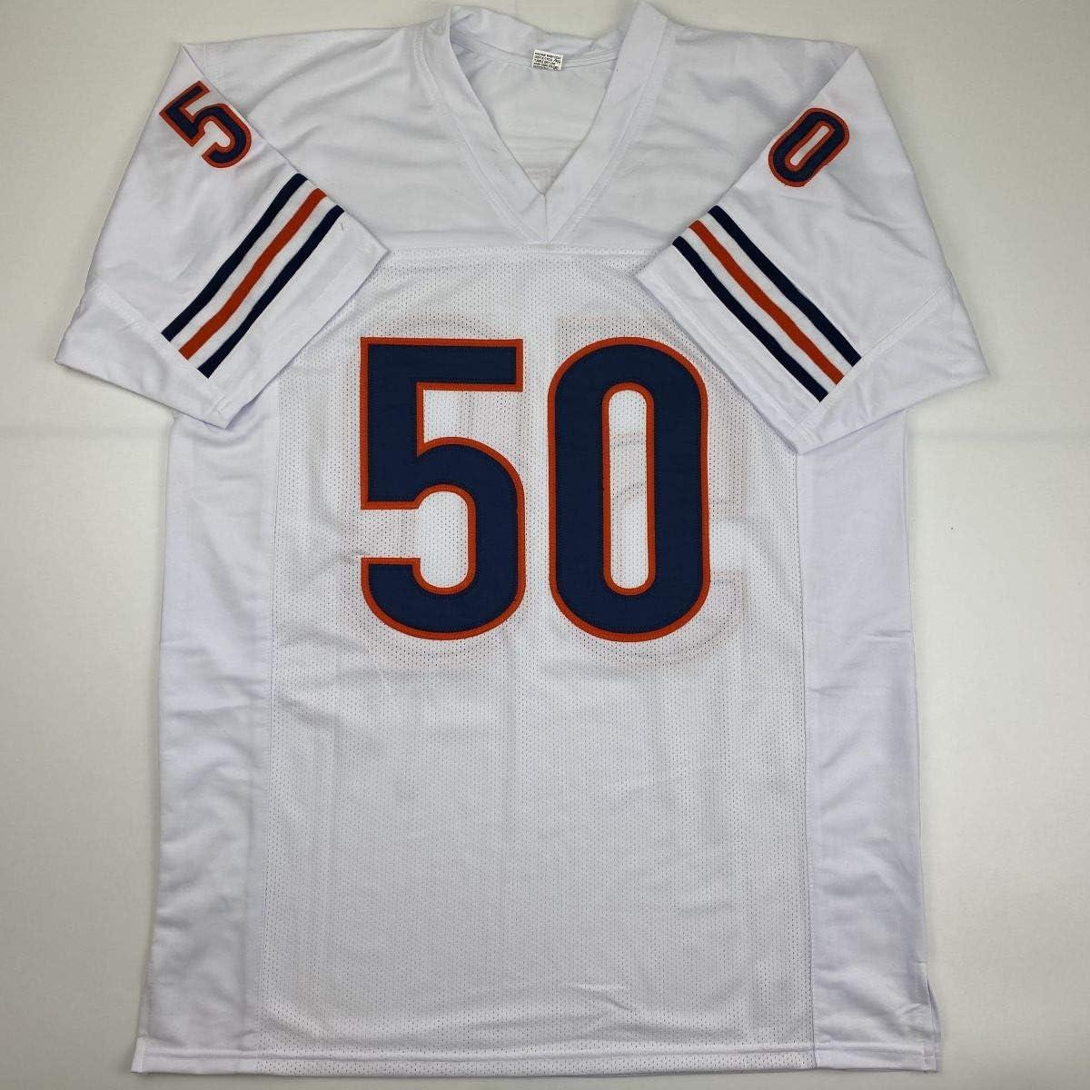 Autographed//Signed Mike Singletary HOF 98 Chicago White Football Jersey JSA COA