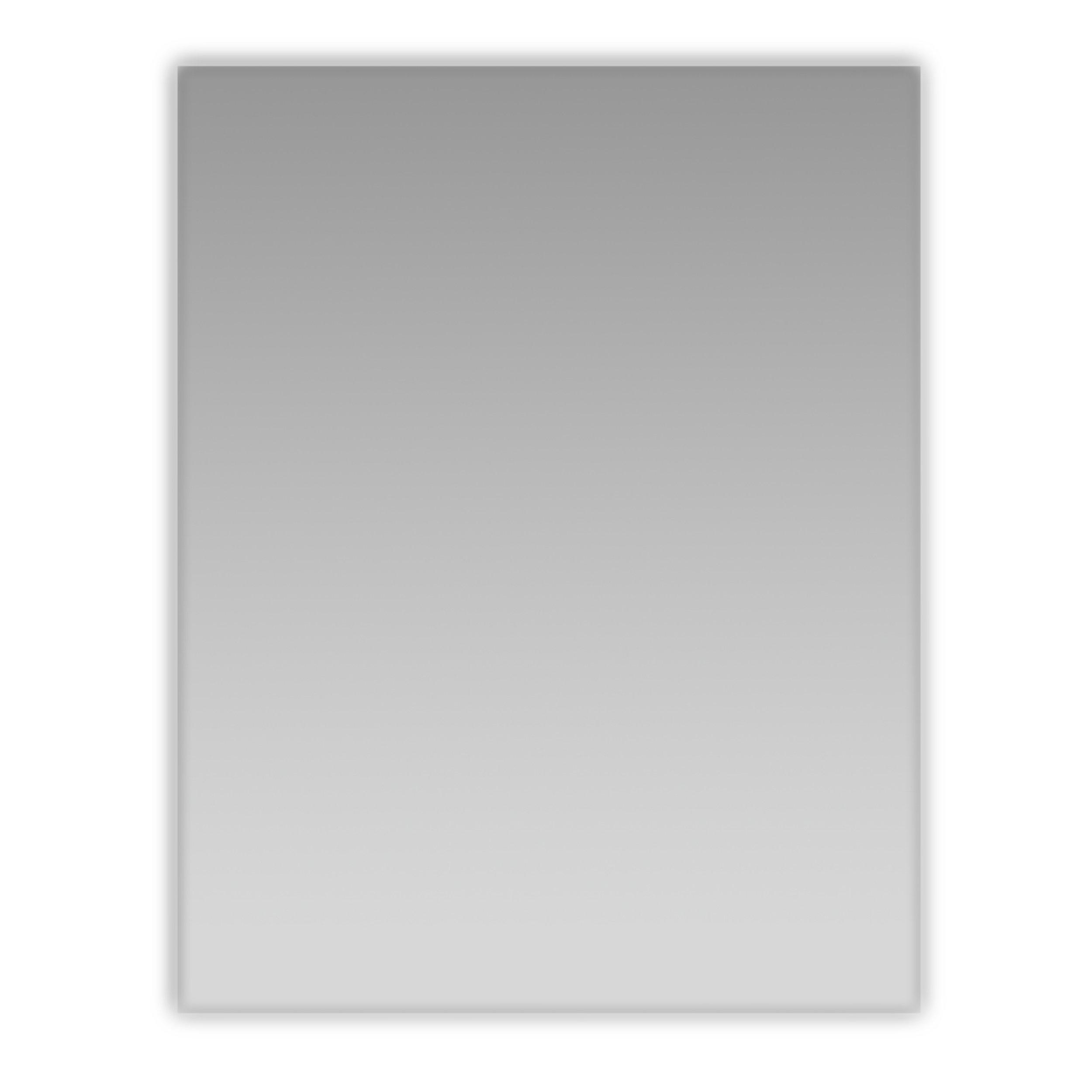 Eviva EVMR05-24X30 Sleek 24'' Frameless Bathroom Mirror Combination, Glass