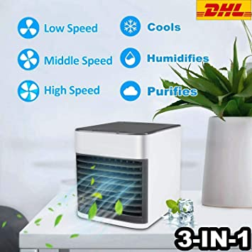FOLOVE Mini Portátil Climatizador,Acondicionado Humidificador ...
