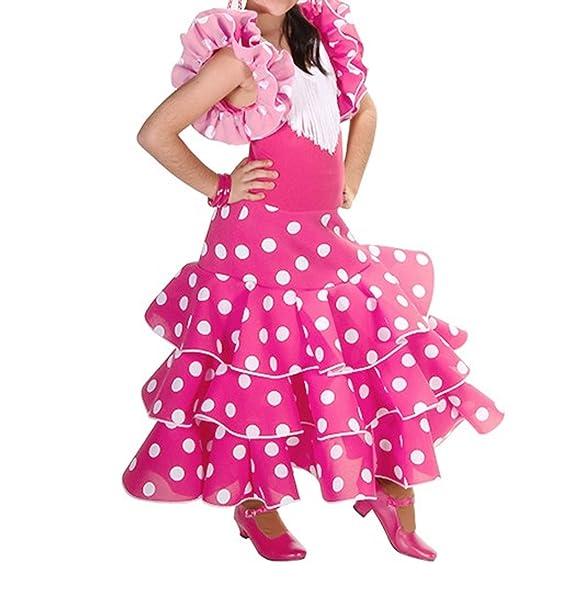 Anuka Vestido de niña para Danza Flamenco o sevillanas