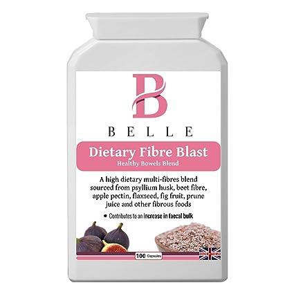 Belle® Fibra Dietética Blast - Fibra Soluble e Insoluble Blend IBS suplemento - Comprimidos de