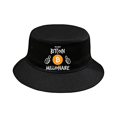 The Next Bitcoin Millionaire Bucket Hat Headwear Summer Beach Sun Hat  Cotton Boonie Fisherman Hat Wide 8157cb939fd