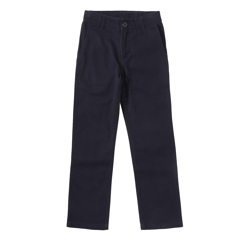 Bienzoe Big Boy's School Uniforms Flat Front Adjust Waist Trousers Slim fit 160019EU