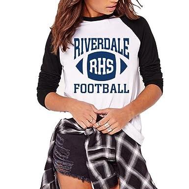 Qhdz L Automne Riverdale Lettres Imprimer Raglan T Shirts Femmes