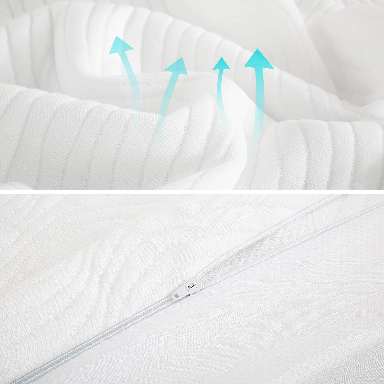 7 Zone matratzen Topper 90x 200 mit Memory Foam Bett Topper 90x 200 f/ür Allergiker Bedsure Matratzentopper 90 x 200 cm Mattress Topper 90x200 orthop/ädisch Farbe in Wei/ß