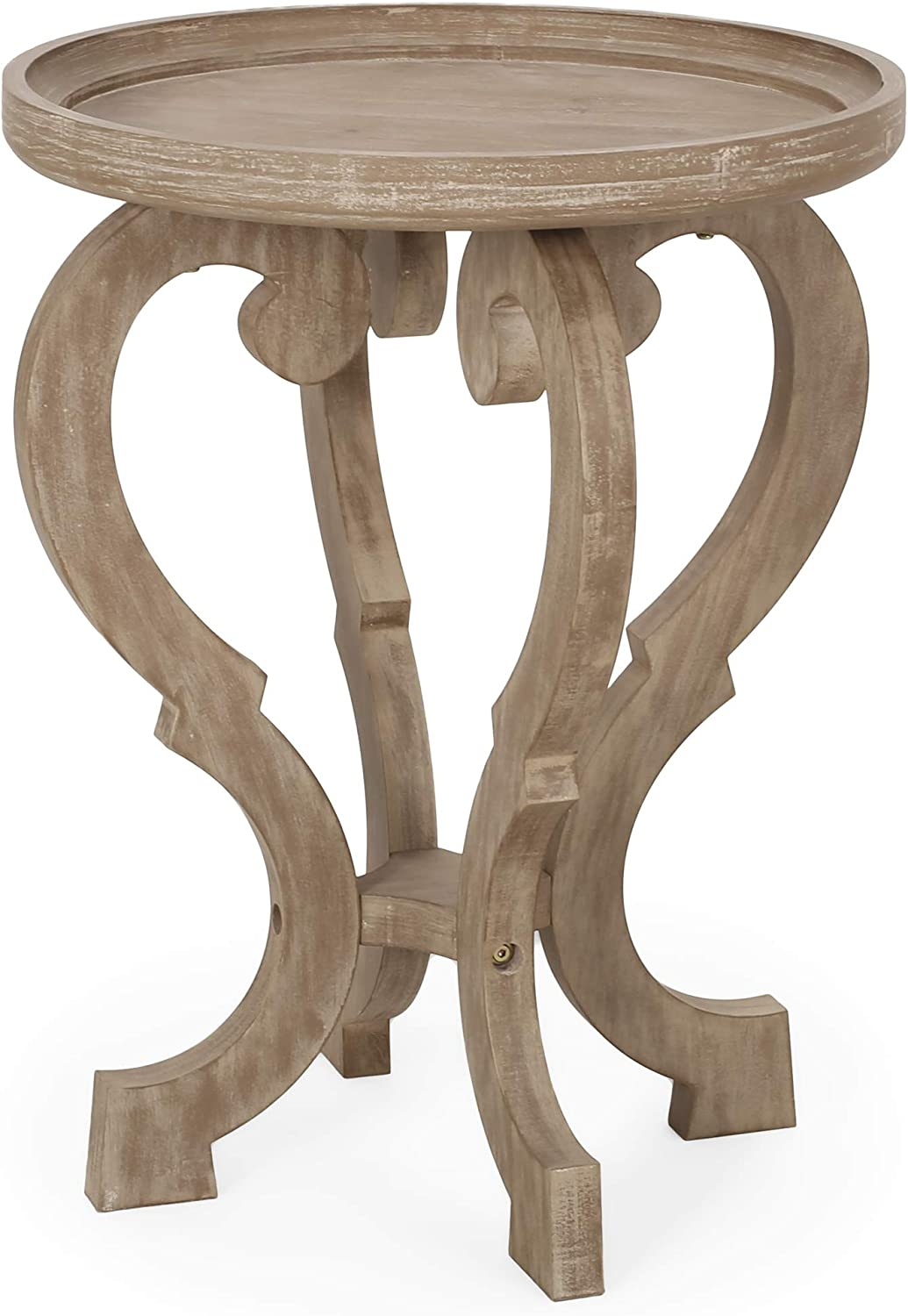 Christopher Knight Home 313192 Eleanor French Country Accent Table with Round Top, Natural