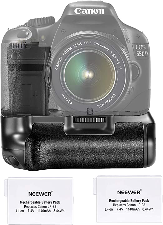 Professional Brand for Canon EOS 550D Durable and Professional Battery Grip with Two Battery Holder Various Types of Digital Camera Battery Grip