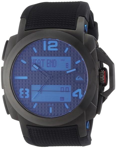 Quiksilver M148TR-ABLU - Reloj analógico y digital de cuarzo para hombre con correa de plástico, color negro: Amazon.es: Relojes