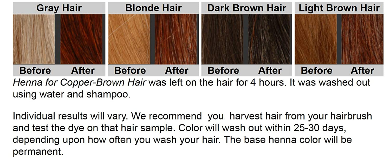 Amazon Com Organic Henna Hair Dye For Copper Brown Hair 2 Bags