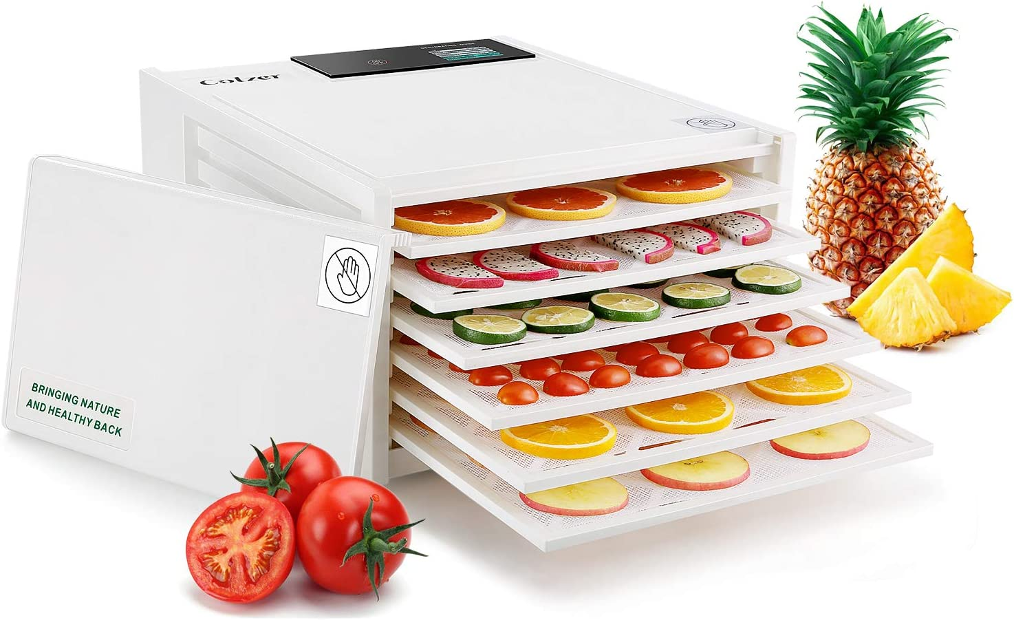Colzer Food Dehydrator Machine(67 Free Recipes) with Timer and Temperature Control, Food Dryer for Fruit, Meat, Beef Jerky, Herbs