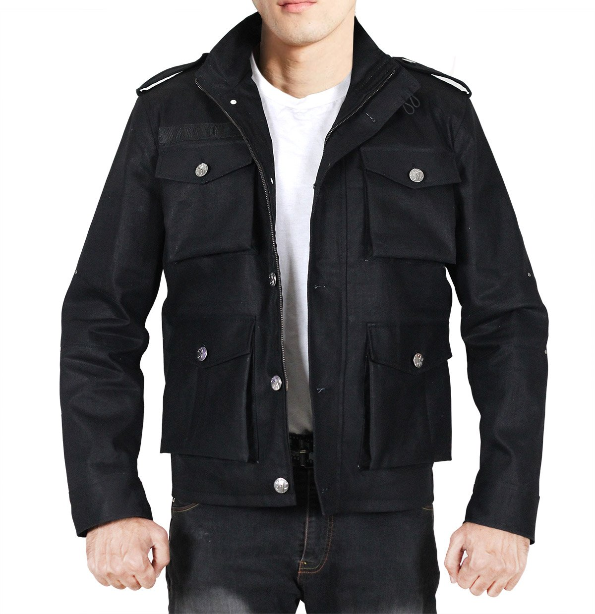 MPASSIONS Daredevil Punisher Jon Bernthal Black Cotton Jacket