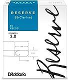 D'Addario  リード レゼルヴ スタンダード B♭クラリネット 強度:3.0(10枚入) ファイルドカット DCR1030
