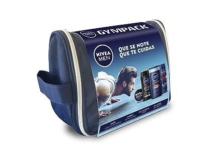 c758aa47c NIVEA MEN Neceser Gimnasio, pack de baño de 4 productos para hidratar la  piel,