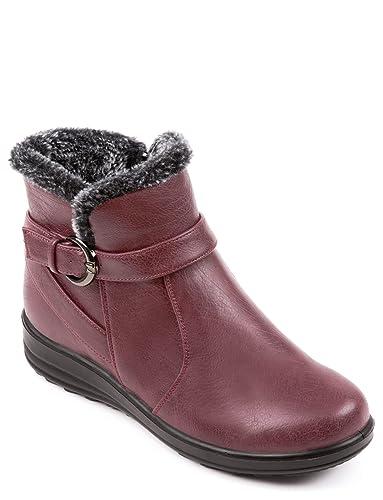 04b60ac613a42 Cushion Walk Ladies Womens Thermal Lined Boot