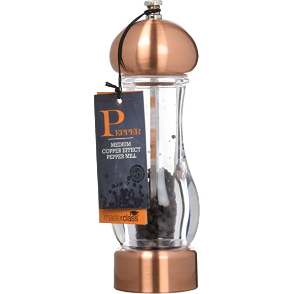 Master Class 19 cm Filled Pepper Mill – Copper Effect