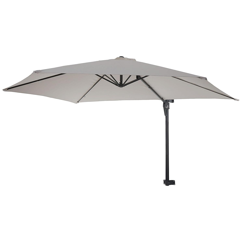 Mendler Parasol de Mur Casoria 3m inclinable ~ Sable Parasol d/éport/é pour Balcon ou terrasse