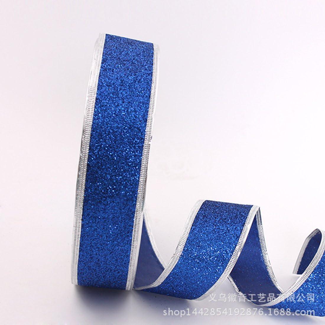 Weihnachtsbaum Hochzeiten Chen ruitm 100YARDS Zwiebel Puder Swirl Wired Glitter Seidenband Satinband f/ür Festival Dekoration gold Geschenk Verpackung
