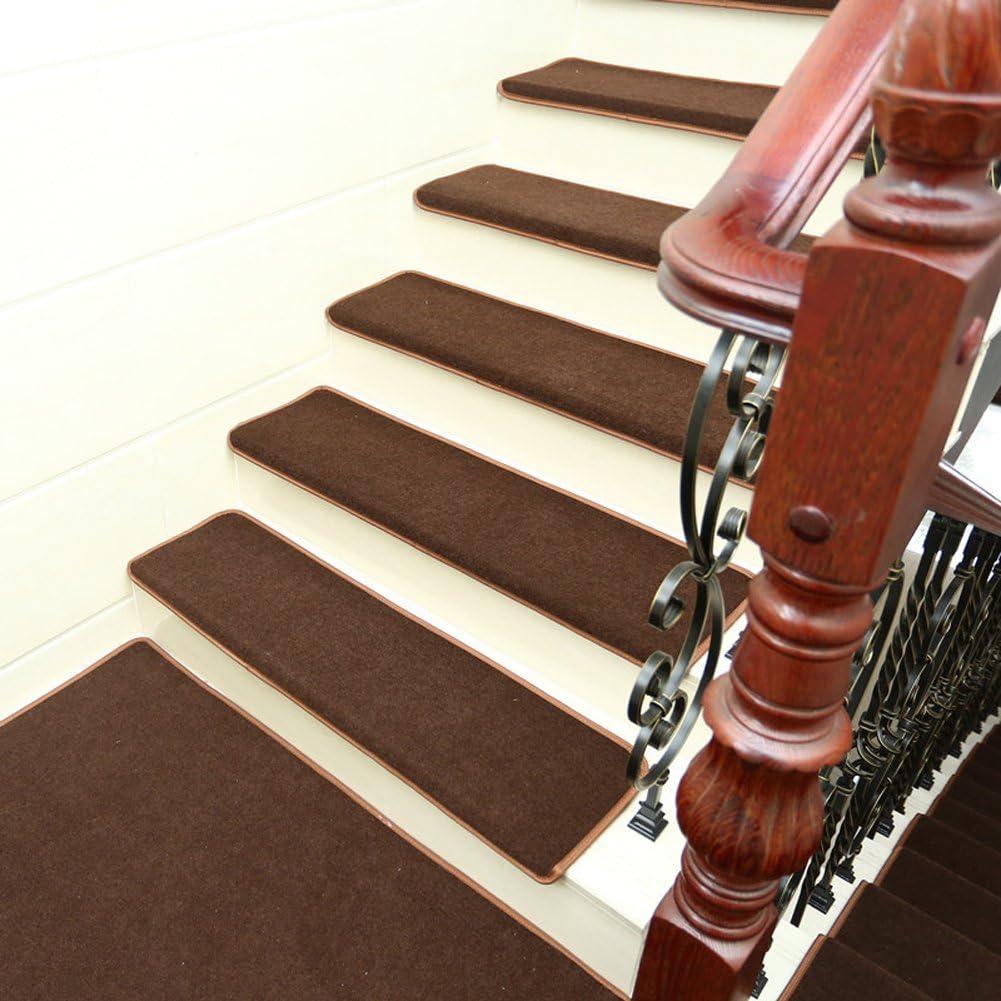 Rziioo Mantas De La Escalera del Paño Grueso Y Suave Coralino del Hogar Esteras De La Pisada De La Estera De La Escalera Antideslizante, Opciones De Múltiples Colores (Los 65 * 24 *