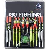 Tonsee® 15pcs Assorted Sizes Lot Fishing Lure Floats Bobbers Slip Drift Tube