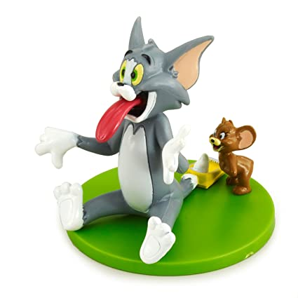 Pleasant Tom And Jerry Cake Topper Amazon Co Uk Kitchen Home Personalised Birthday Cards Veneteletsinfo