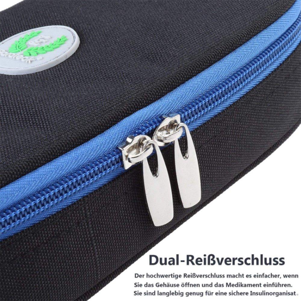 Allcamp Diabetikertasche Kühltasche Insulin Tasche Für Diabetes Spritzen,Insul