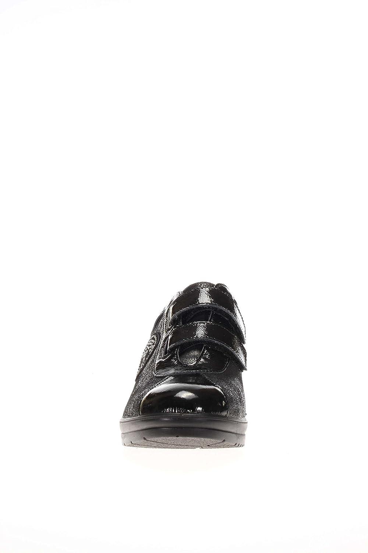 ENVAL softh Damen Das Boden Keilabsatz D D D Ro 16986 schwarz Das mit Klettverschluss Boden Keilabsatz Schwarz fafad6