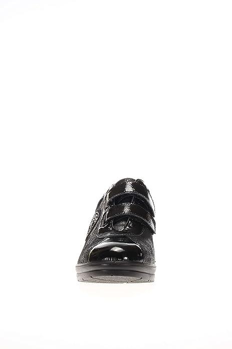 ENVAL softh Mujer allacciato fondo Zeppa D RO 16986?negro allacciato con velcro fondo Zeppa negro Size: 36 BUH3fI1D