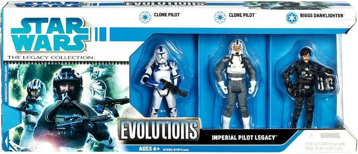 Star Wars 3.75 Inch Scale Clone Wars Evolutions Imperial Pilots Legacy 3 Pack