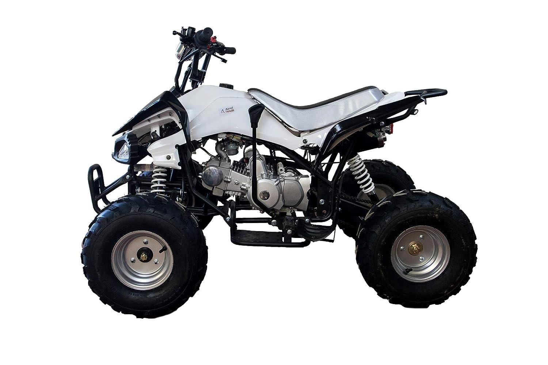 KENROD Quad Gasolina Quad Gasolina para Adultos Moto Quad 125CC Color Blanco: Amazon.es: Coche y moto