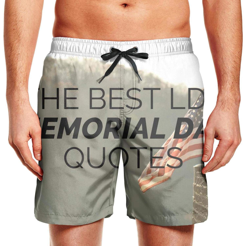 Mesh Quick-Dry Classic Comfortable Fashion Mens Printed Beach Pants Swim Trunks Shorts Walking Memorial Day American flag1 Irregular