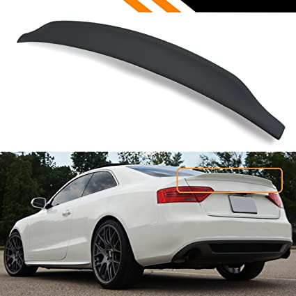 Cuztom Tuning For 2008 2016 Audi A5 S5 Rs5 B8 Cat Style High Kick Duckbill Pu Primered Black Trunk Spoiler Wing