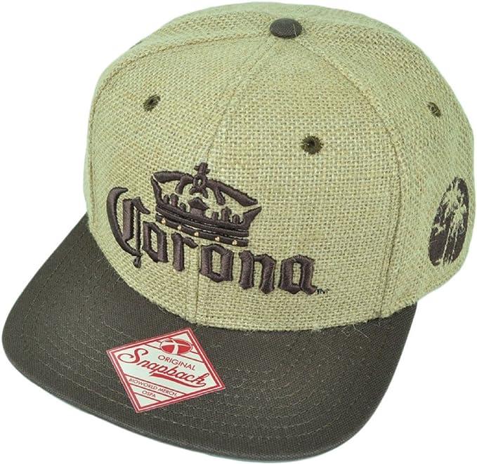 Corona – Yute encontrar tu playa plana Bill gorra sombrero marrón ...