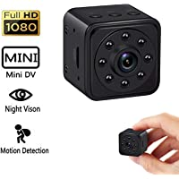 Dicphil 1080p 140 Degree Wide Angle Mini Hidden Spy Camera with Night Vision and Motion Detective