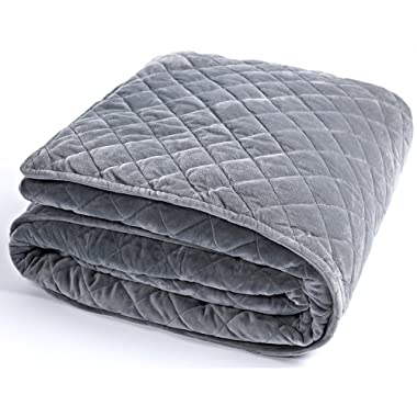BUZIO Removable Duvet Cover Weighted Blanket Inner Layer Keep Clean, Cover, Easy Care, 60 x 80 Inches
