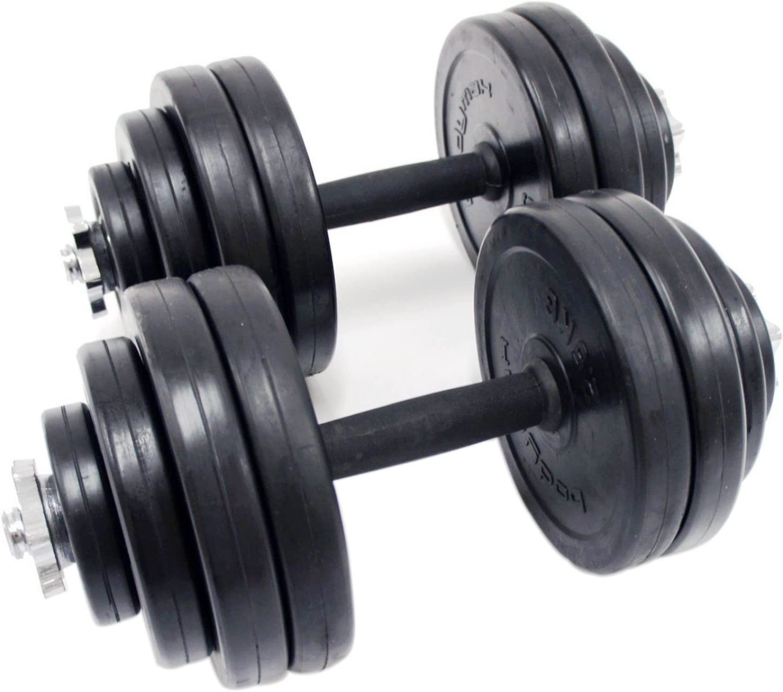 Juego de mancuernas Kit Pesos Entrenamiento Gimnasio Fitness cuerpo edificio casa Entrenamiento Muscular bodybuilding- rubbercoated Hierro Combinación): Amazon.es: Deportes y aire libre